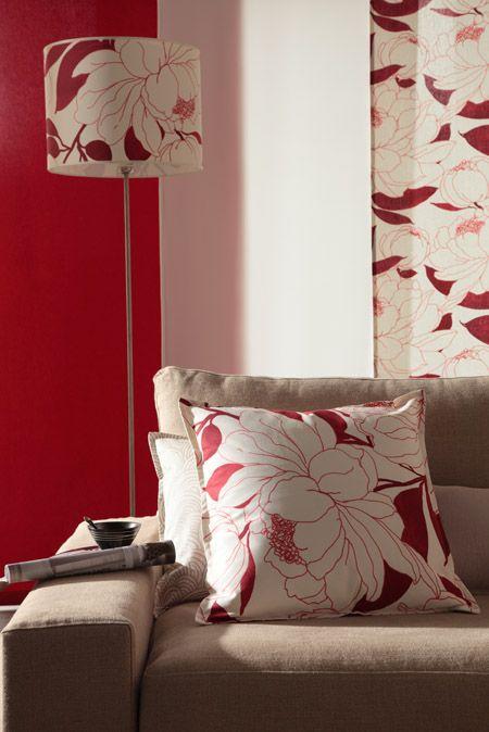 coussin abat jour panneau japonais le tissu paeonia se d cline s accessoirise et se. Black Bedroom Furniture Sets. Home Design Ideas