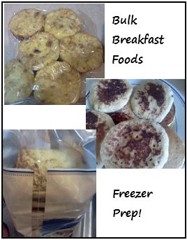 Tips for bulk cooking and freezing breakfast foods.: Food Breakfast, Freezers Breakfast, Freezers Cooking, Bulking Cooking, Breakfast Food, Food Bulking, Great Ideas, Bulking Breakfast, Freezers Food