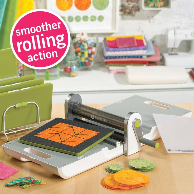 Always looking to make our quality products even better, AccuQuilt knows it takes smart innovation to make an even smarter cutter. Now the newly advanced GO! cutter features its smoothest rolling action yet. The AccuQuilt GO! Fabric Cutter allows quilters to cut fabric up to 90% faster than with rotary cutters or scissors. To a quilter of any skill level, that's the equivalent of being able to spend 54 more minutes of every hour quilting instead of cutting fabric. The smoother rolling action…