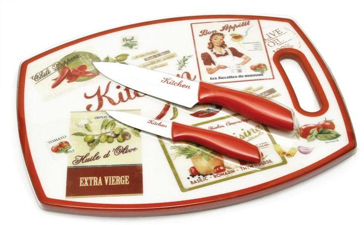 Deska do krojenia z nożami - BelleMaison.pl