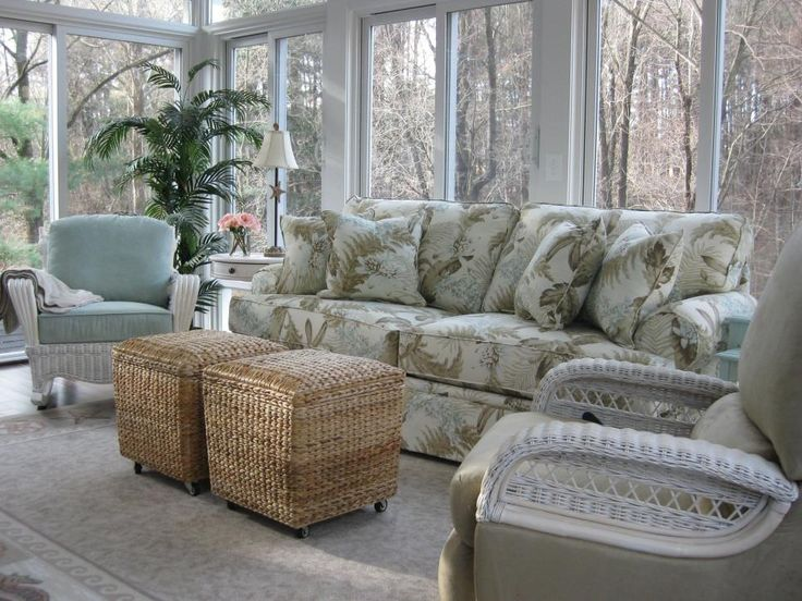 Beach Inspired Sunrooms. Sunroom DecoratingSunroom IdeasSunroom FurnitureWhite  ...