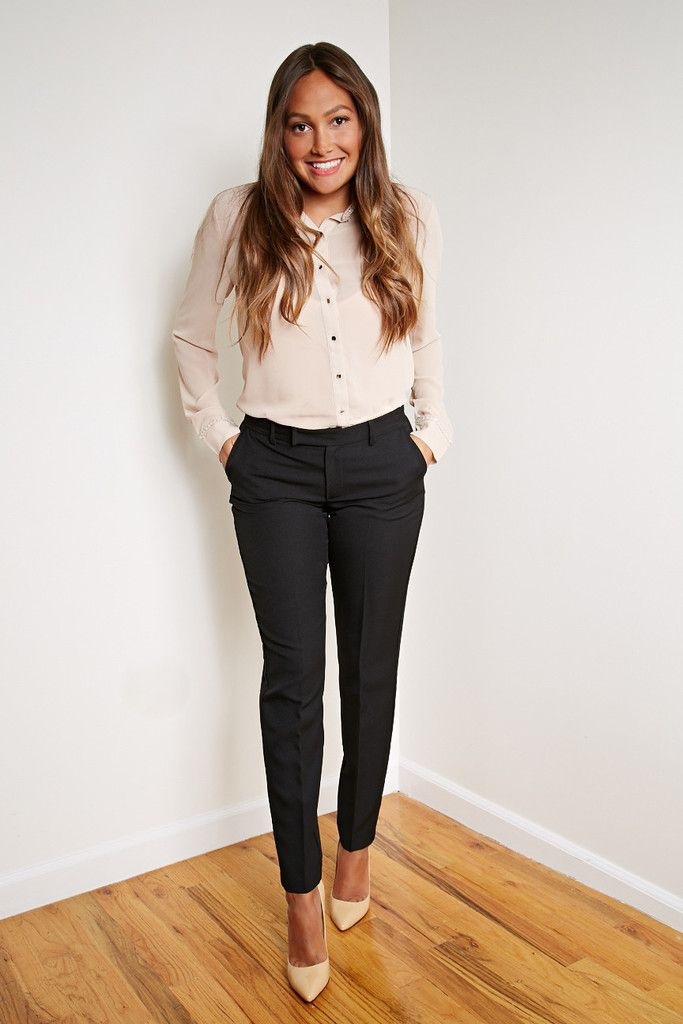 Edgy modern business attire.Easy to put together.. cute