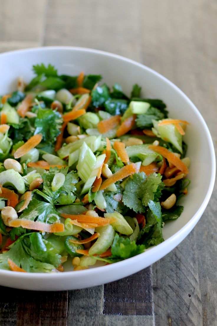 Try this spicy and flavorful Thai Celery Salad. Celery, cilantro, and scallions make a delicious and healthy base.