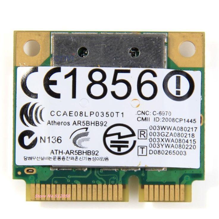 SSEA for Atheros AR5BHB92 AR9280 Dual-Band 2.4G/5GHz 802.11a/b/g/n 300Mbp Wireless wifi half mini pci-e Card Free Shipping