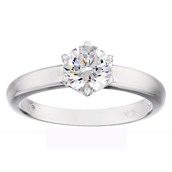 GEMOUR COLLECTION Swarovski CZ Classic Round Solitaire Ring
