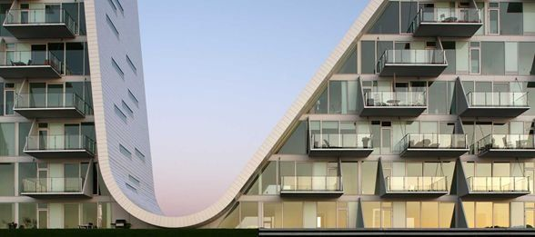 Osiedle Fala w Vejle, Dania, Projekt: Henning Larsen Architects