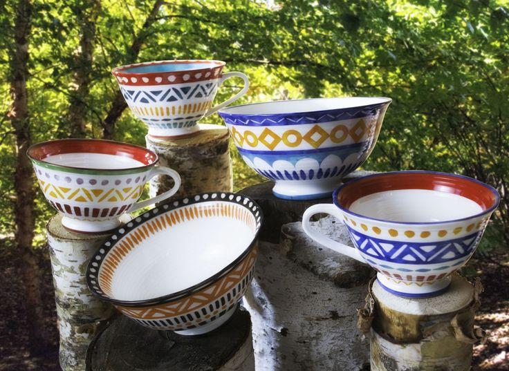 Amalfi Mix & Match Oversized Latte Mugs - Set of 4 - Collections