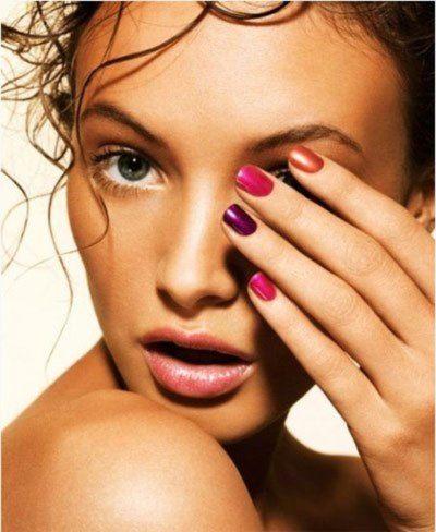 multicolored nail polish, so fun!