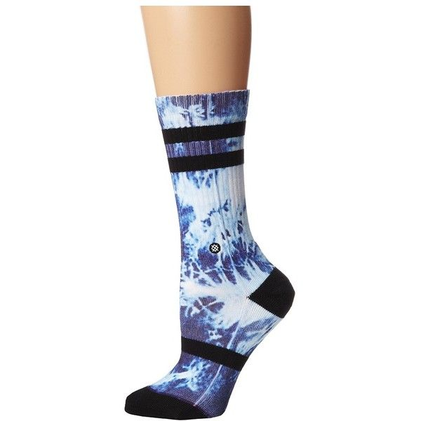 Stance Monsoon Women's Crew Cut Socks ($14) ❤ liked on Polyvore featuring intimates, hosiery, socks, seamless socks, cuff socks, stance socks and crew socks
