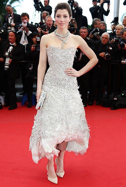 Jessica Biel at the 2013 Cannes Film Festival on 19 May premiere of Inside Llewyn Davis