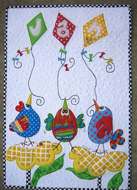 Art quilt too cute!!