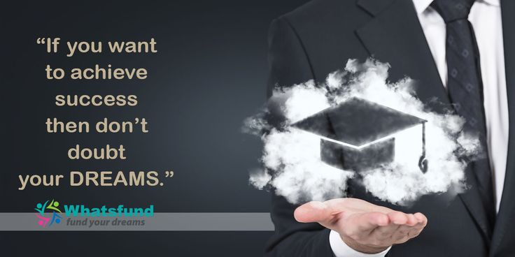 """""""If you want to achieve success then don't doubt your DREAMS.""""  www.whatsfund.com"""