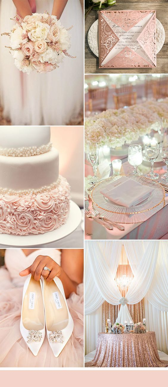 blush pink and white glamourous modern wedding ideas