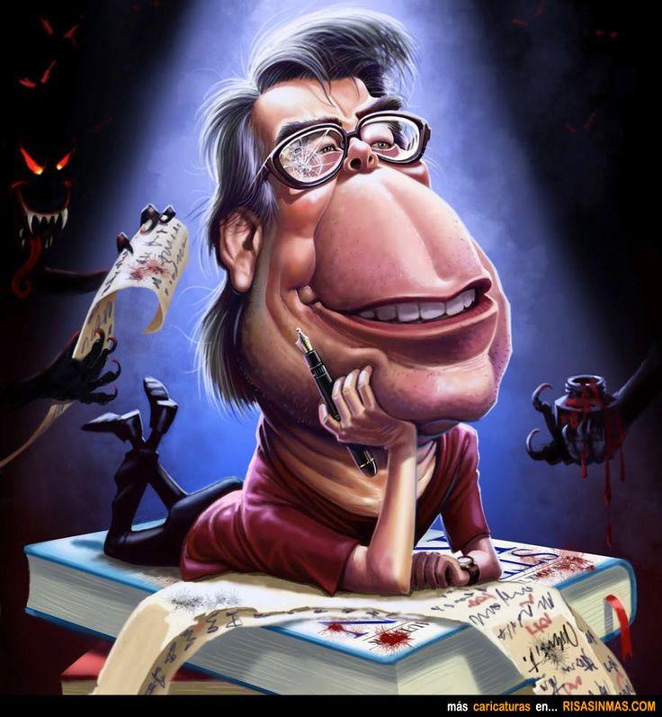 Caricatura de Stephen King.