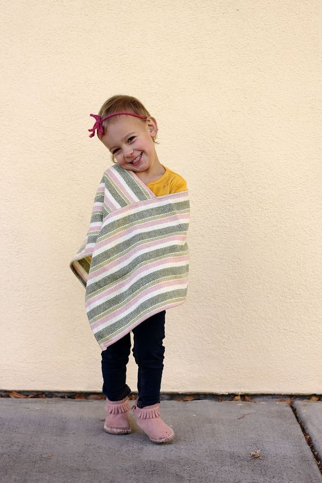 DIY wool poncho for kids and adults.