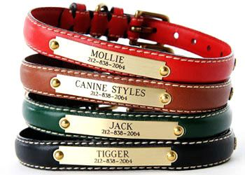 Canine Styles Personalized Engraved Dog Collars