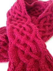 Ravelry: Cabled Scarf pattern by Suzanne Wadsworth