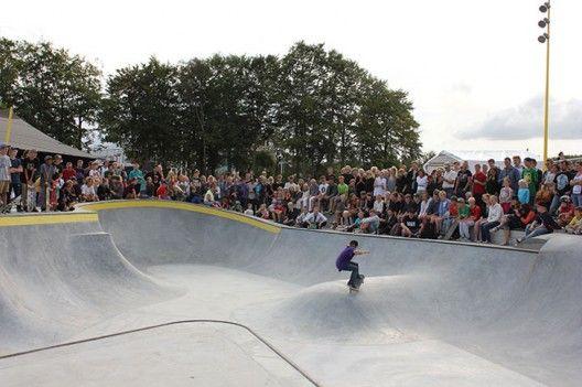Pista de skate + drenaje sostenible en Dinamarca