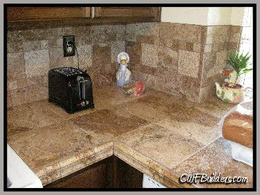 Here Is A Counter Top Made Of Porcelain Tile The Colors And Designs In Porcelain