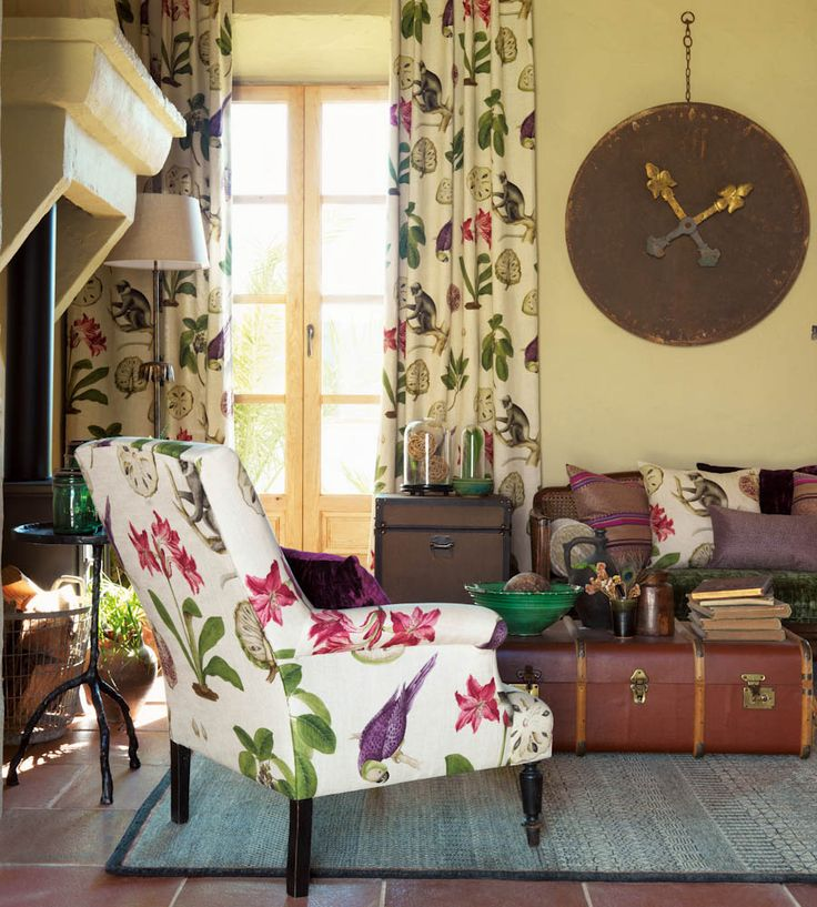 Tropical Interior Trend | Capuchins Fabric by Sanderson | Jane Clayton