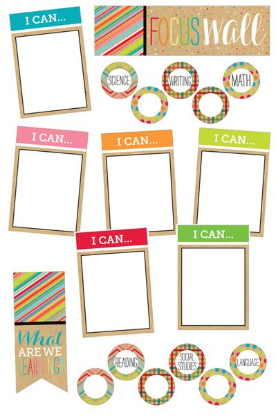 #TooCute Collection, Focus Wall Bulletin Board Set, 19 Pieces