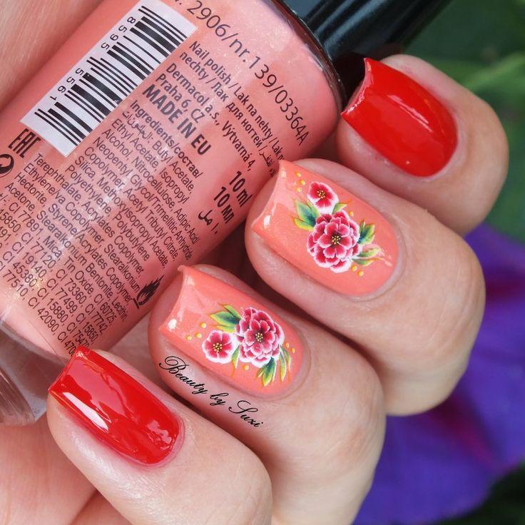 Dermacol Rose nail art