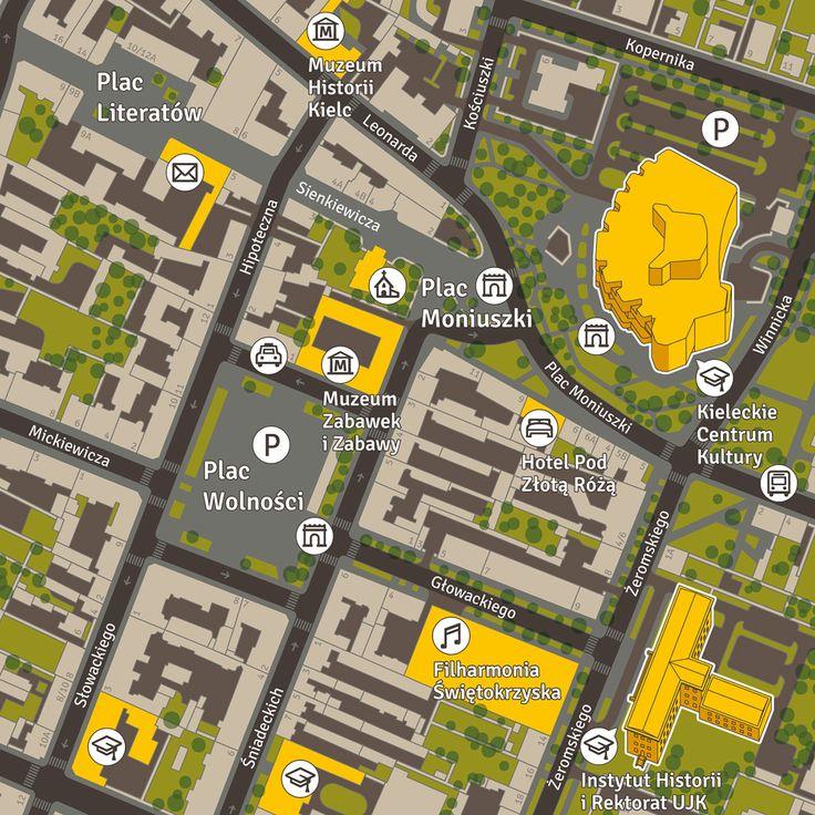 Pau Map%0A Kielce  Pedestrian Wayfinding System on Behance