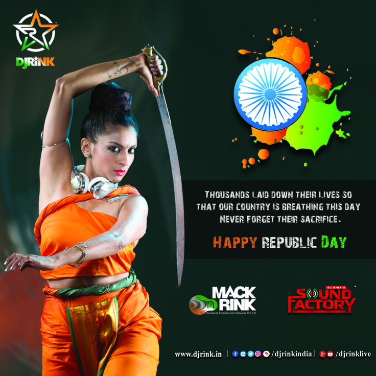 Wish you all a very happy and prosperous Republic Day. Lets make a pledge that we will stand for army men and salute them share this so it reaches to everyone. JAI HIND Vande Mataram. #djrink #rink #bollywood #IndianArmy #Navy #Airforce