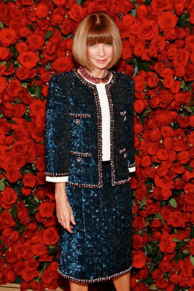 Classical 2 piece suit. Ms. Anna Wintour Editor-in-chief of American Vogue.