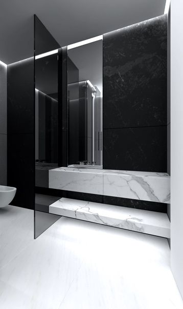 Do you want your bathroom to look luxurious and modern? Get the best tips for your bathrooms and another home design ideas at www.homedesignide... #contemporary #interiordesign