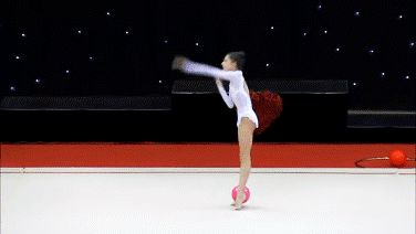 rhythmic gymnastics, ball, and gymnast image