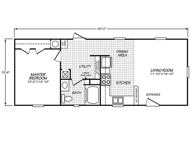 Palm harbor 39 s model 16401g is a manufactured home of 620 for One bedroom cabin floor plans