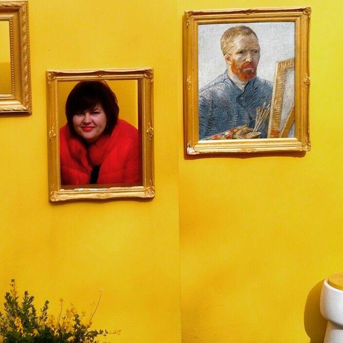 With Van Gogh in Kaukenhof #kaukenhof #vangogh