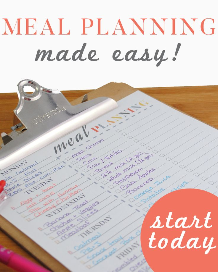Meal Planning Made Easy! Save Money - Save your Sanity - Save your time!!!