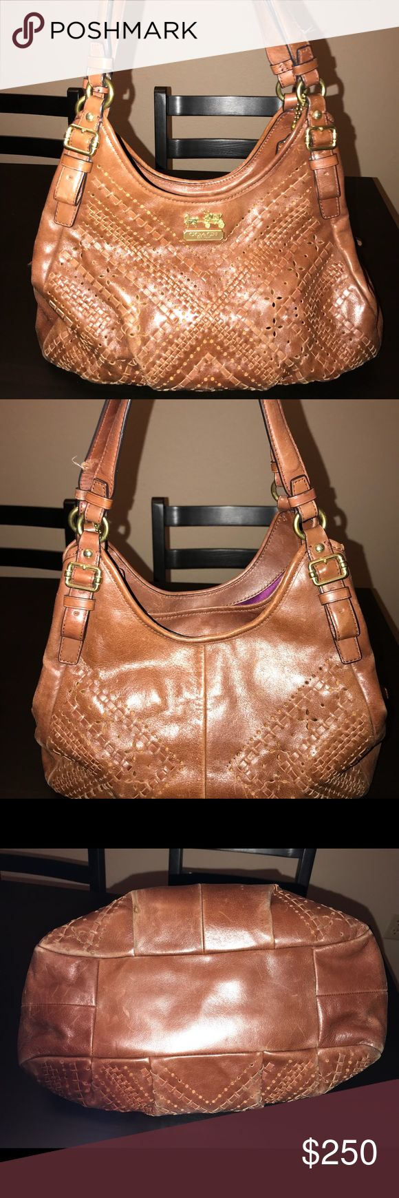 Coach Purse Brown leather Coach purse. 100% authentic. Original price: $550. Have not used in a couple years. Normal wear and tear. Coach Bags Shoulder Bags