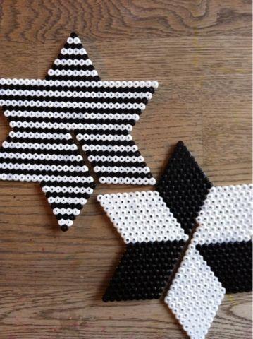 Schöner 3D Stern mit Bügelperlen 3-D star ornament perler