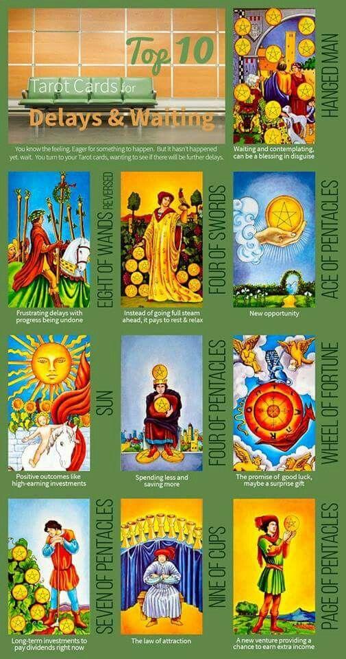 10 for Delays/Waiting Biddy tarot, Tarot, Tarot cards