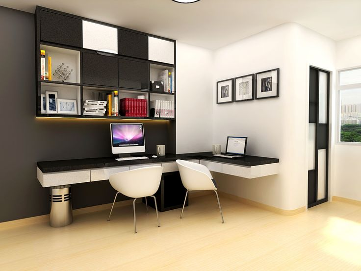 Modern study room design home study room with gym for Den study design ideas