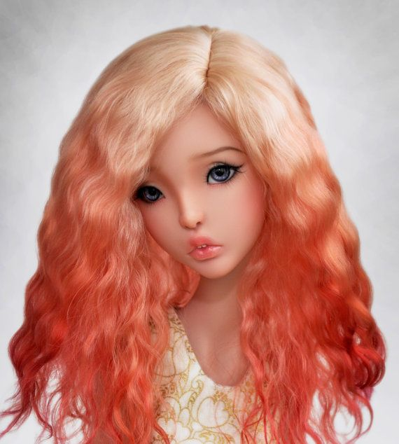 Barberry Ombre  Angora BJD wig sd  msd  tiny от BlueberryStyle