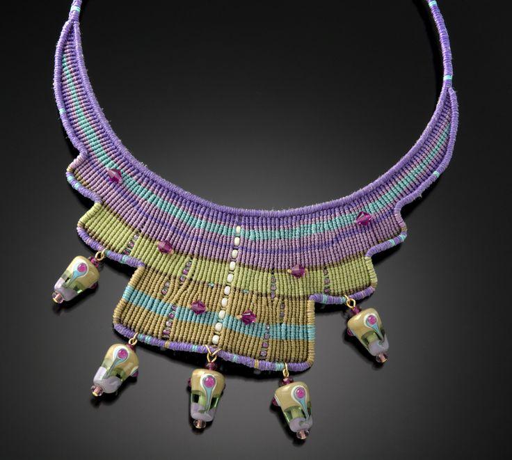 Violet Kiwi by Bernadette Mahfood (Beaded Necklace)   Artful Home