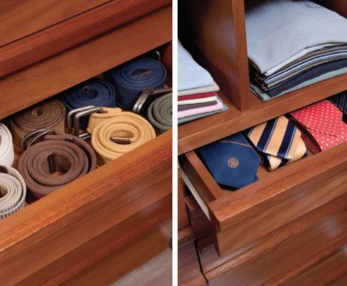 Dicas para organizar cintos e gravatas
