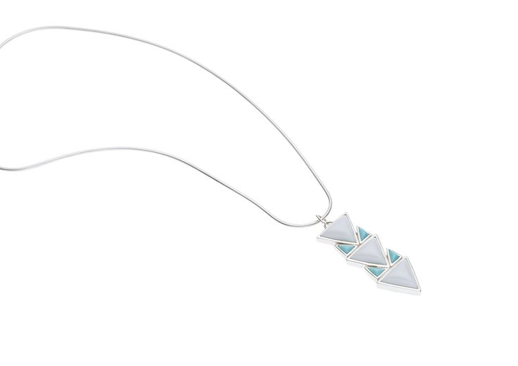PUSHMATAAHA // SPEARHEAD PENDANT in American Turquoise with 925 Sterling Silver