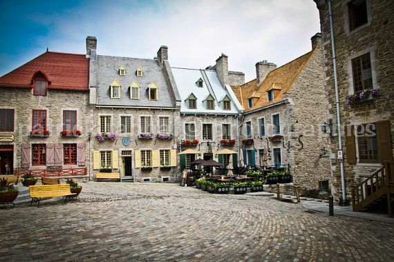 Vieux Québec - Old Town Quebec City Cobble Stone Streets on Etsy, $25.00 CAD