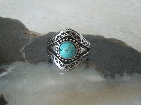 Turquoise Ring southwestern jewelry southwest by Sheekydoodle