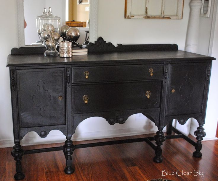 89 best images about antique buffets painted on for Painted buffet sideboard