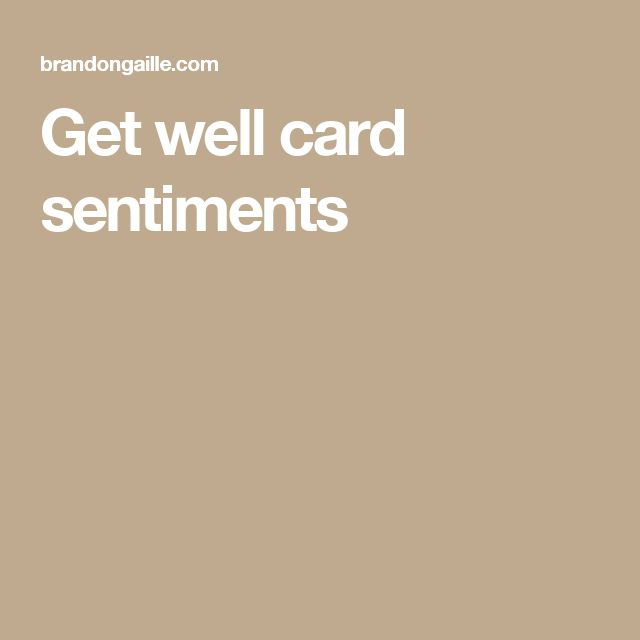 Get well card sentiments
