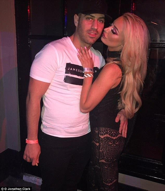 Karma: Jilted boyfriend Jon Clark (pictured) couldn't hide his glee after ex-girfriend Chloe Crowhurst (pictured) was given the boot from Love Island on Monday after failing to find herself a genuine new beau