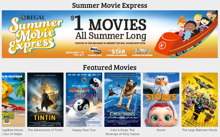 Regal Theaters in Charlotte Will Be Offering Movies For $1 This Summer