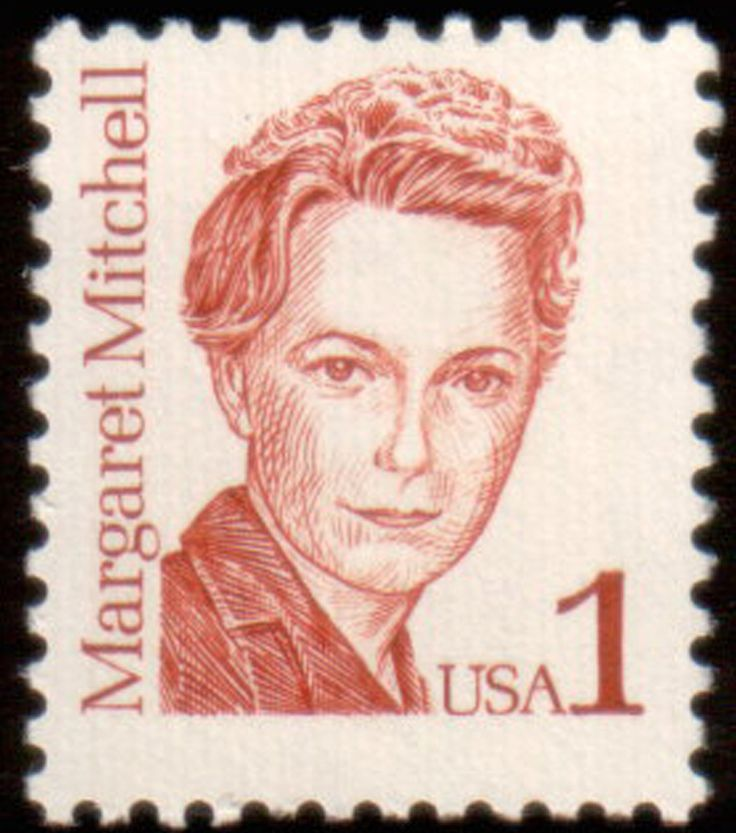 Literary Stamps: Mitchell, Margaret (1909-1949) Gone With the Wind author. David O. Selznick's adaptation of Margaret Mitchell's sweeping Civil War romance is still king of the movie world.