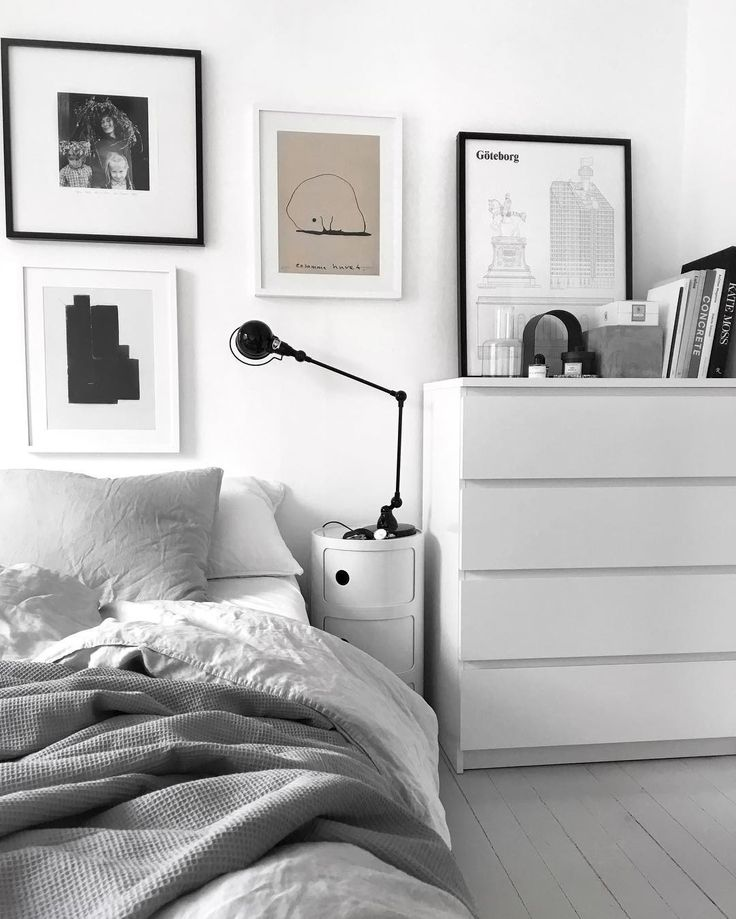 charming bedroom corner in scandinavian decor